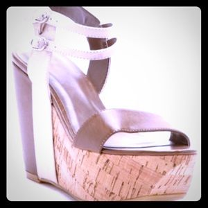 Chinese laundry Go Getter cork wedge sandals